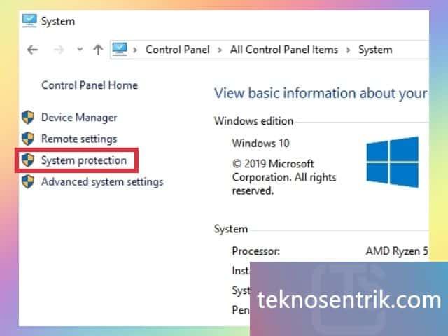 2 cara mematikan system restore point windows 10