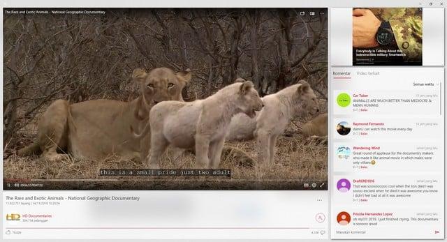 Aplikasi Youtube Windows 10 Awesome Tube