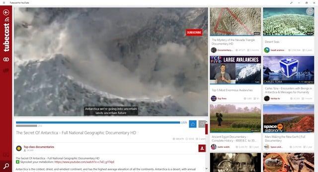 Aplikasi Youtube Windows 10 Tubecast for Youtube