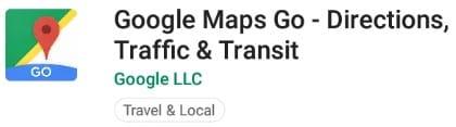 Aplikasi ringan untuk smartphone android go google maps go