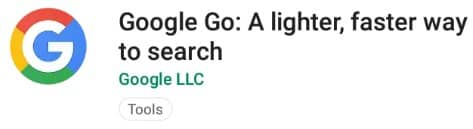 Aplikasi untuk smartphone android go Google Go