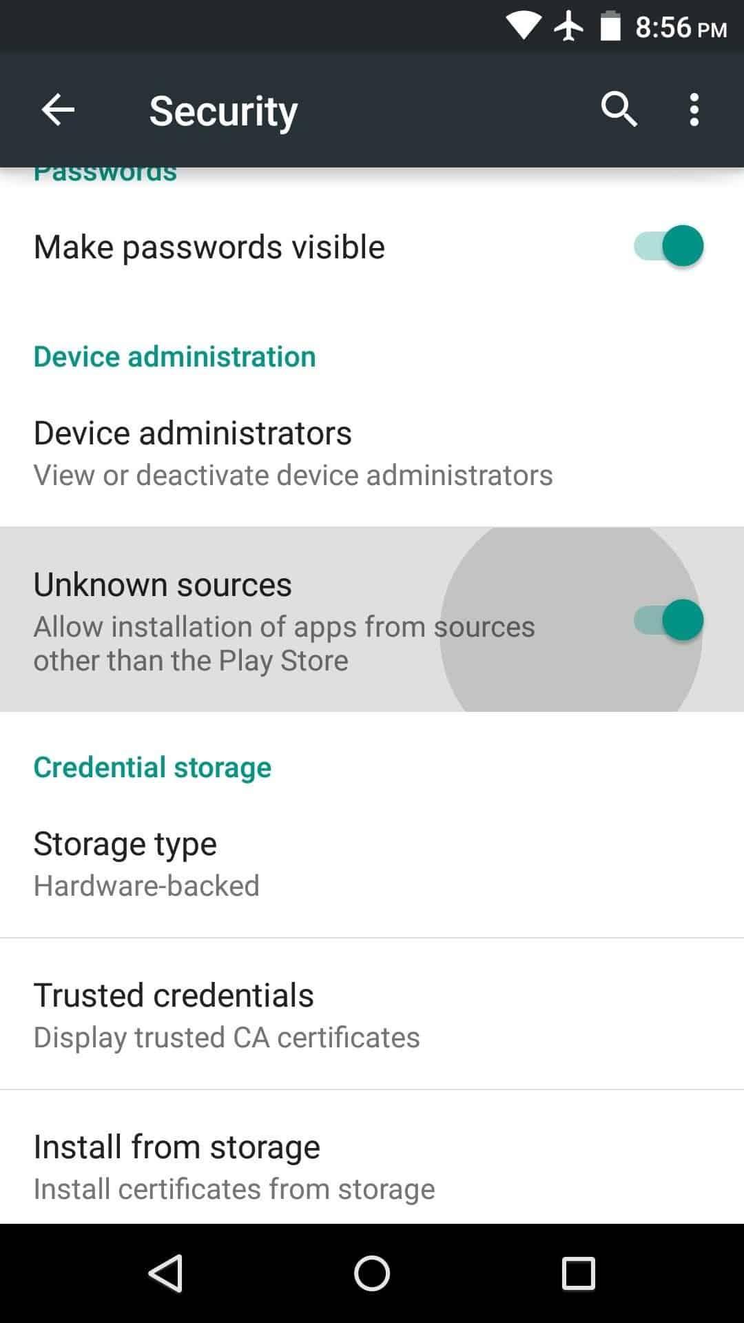 Buka-Settings-di-HP-masuk-ke-Privacy-and-Security-dan-centang-Unknown-source