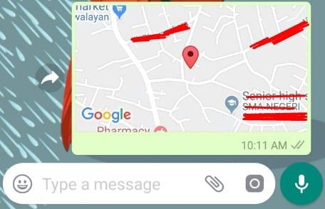Cara mengetahui posisi seseorang melalui chat WhatsApp 3