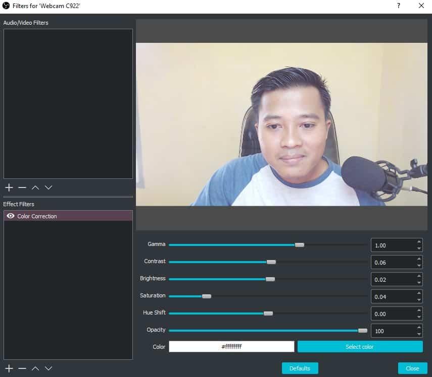 Cara setting webcam logitech c922 8