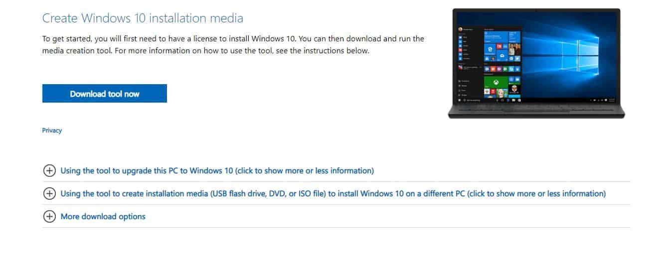 Disana-terdapat-menu-Create-Windows-10-Installation-Media-yang-bisa-di-klik-pada-kotak-Download-Tool-Now