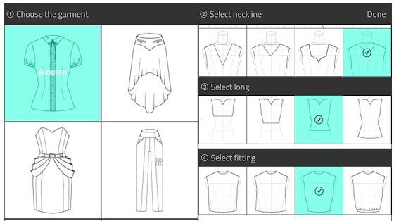 Fashion Design Flat Sketch aplikasi desain baju wanita untuk android