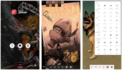 Infinite Painter aplikasi pengganti corel draw di android