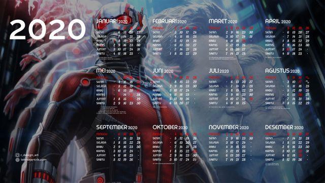 Kalender 2020 background Ant Man Full HD 4K