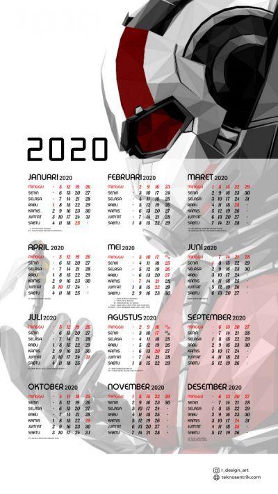 Kalender 2020 background Ant Man format portrait Full HD 4K