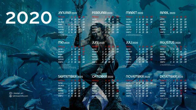 Kalender 2020 background Aquaman Full HD 4K