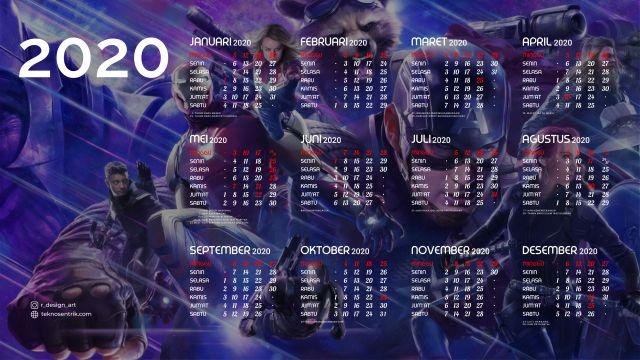 Kalender 2020 background Avenger End Game Full HD 4K