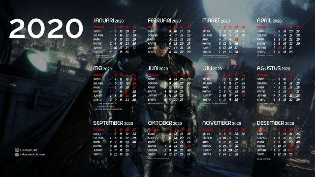 Kalender 2020 background Batman Full HD 4K