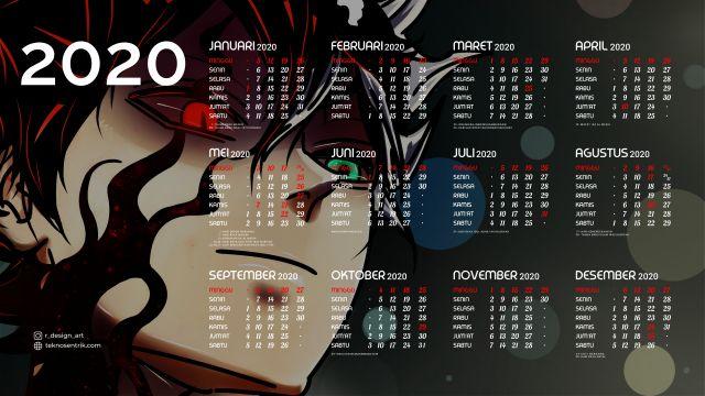 Kalender 2020 background Black Clover Full HD 4K