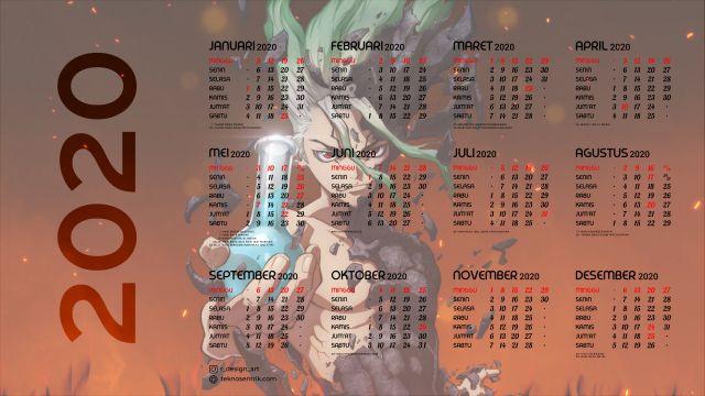 Kalender 2020 background Dr Stone Full HD 4K