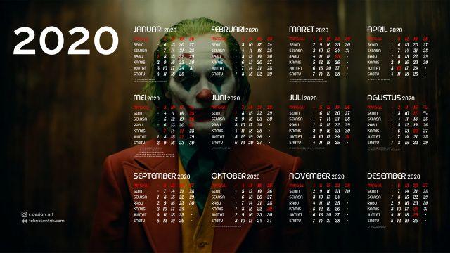 Kalender 2020 background Joker Full HD 4K