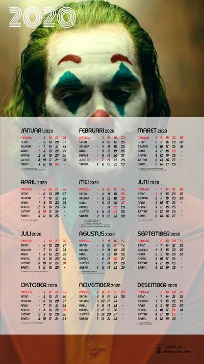 Kalender 2020 background Joker portrait Full HD 4K