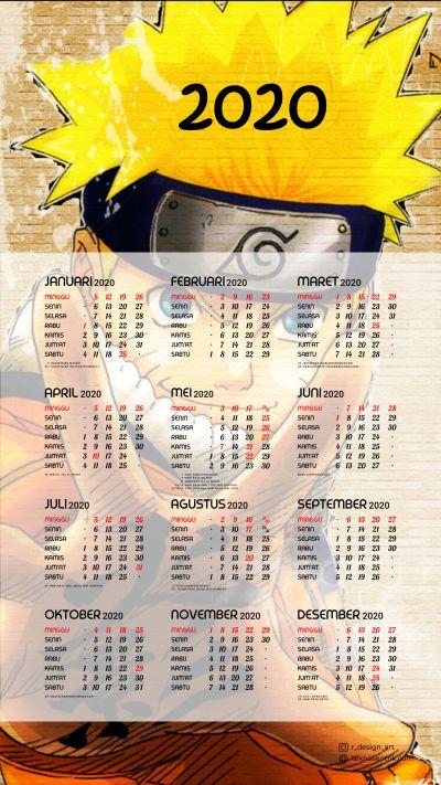 Kalender 2020 background Naruto portrait Full HD 4K