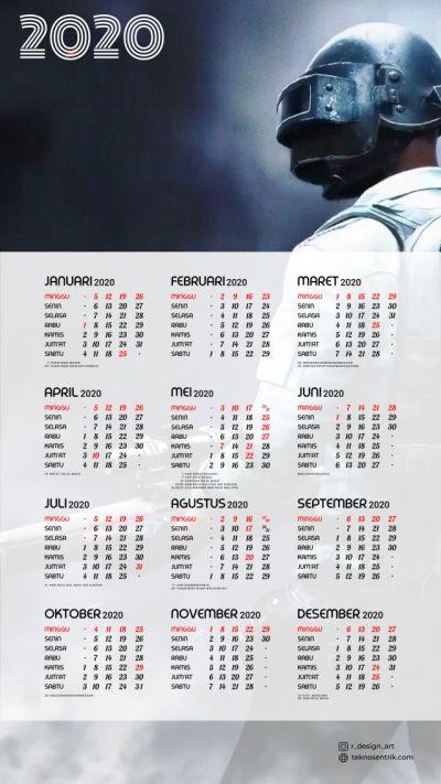 Kalender 2020 background PUBG portrait Full HD 4K