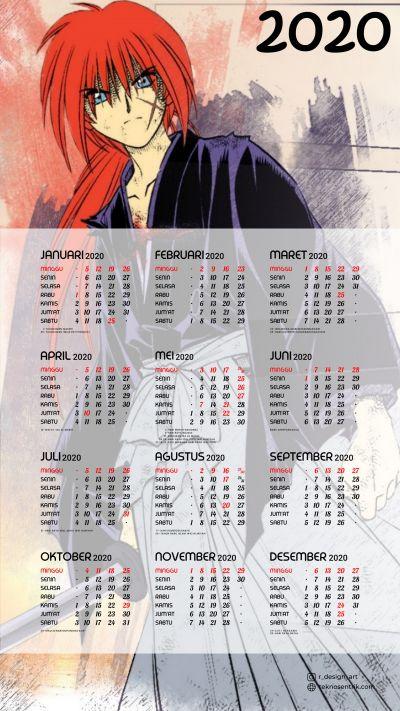 Kalender 2020 background Samurai X portrait Full HD 4K
