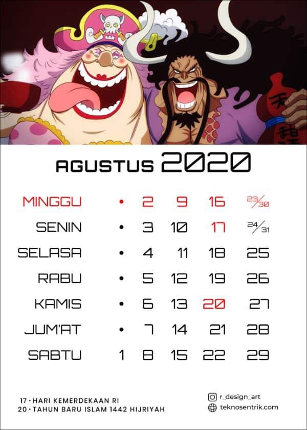 Kalender Agustus