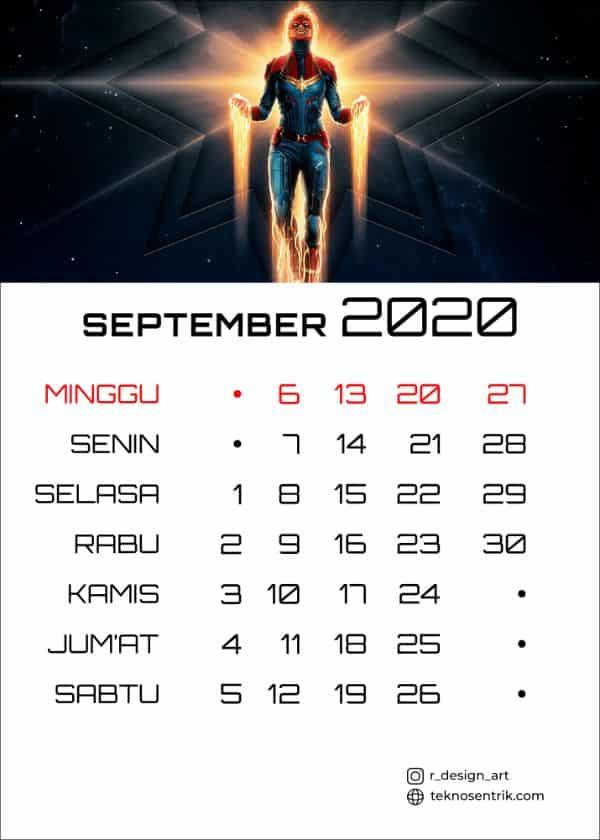 Kalender September 2020