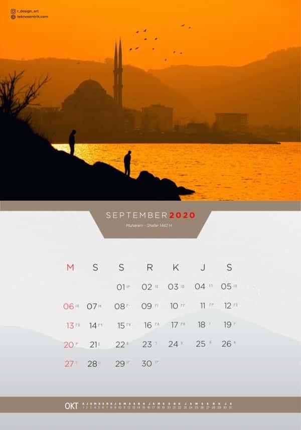 Kalender masehi dan hijriyah September 2020