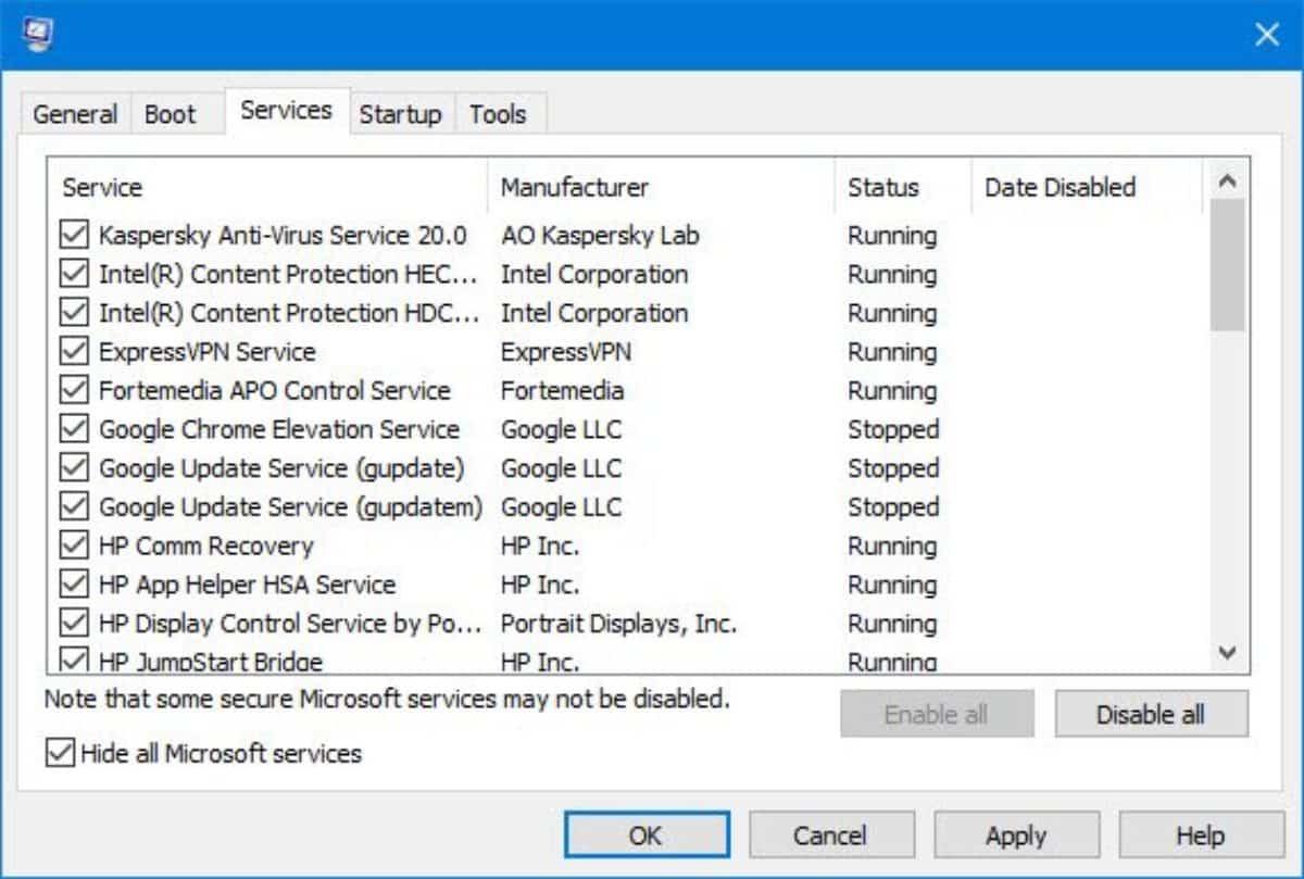 Kemudian-Centang-Hide-All-Microsoft-Services