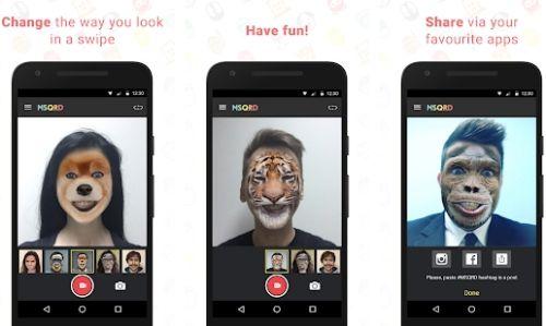 MSQRD kamera perubah wajah jadi hewan