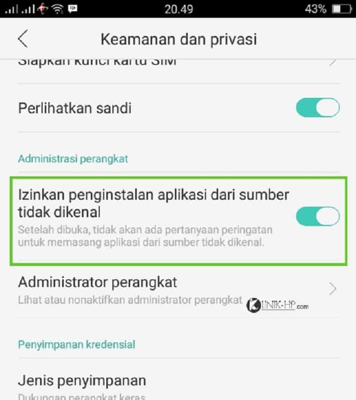 Masuk-ke-Settings-Security-Privacy-Install-From-Unknown-Place.-Bisa-berbeda-di-beberapa-ponsel