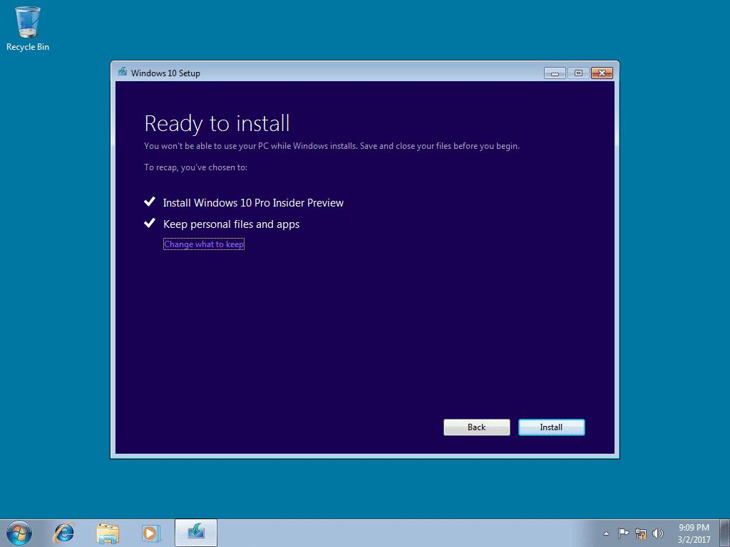 Saat-halaman-Ready-to-install-maka-Anda-bisa-mengklik-label-Change-what-to-kepp-kemudian-memilih-Keep-personal-files-only