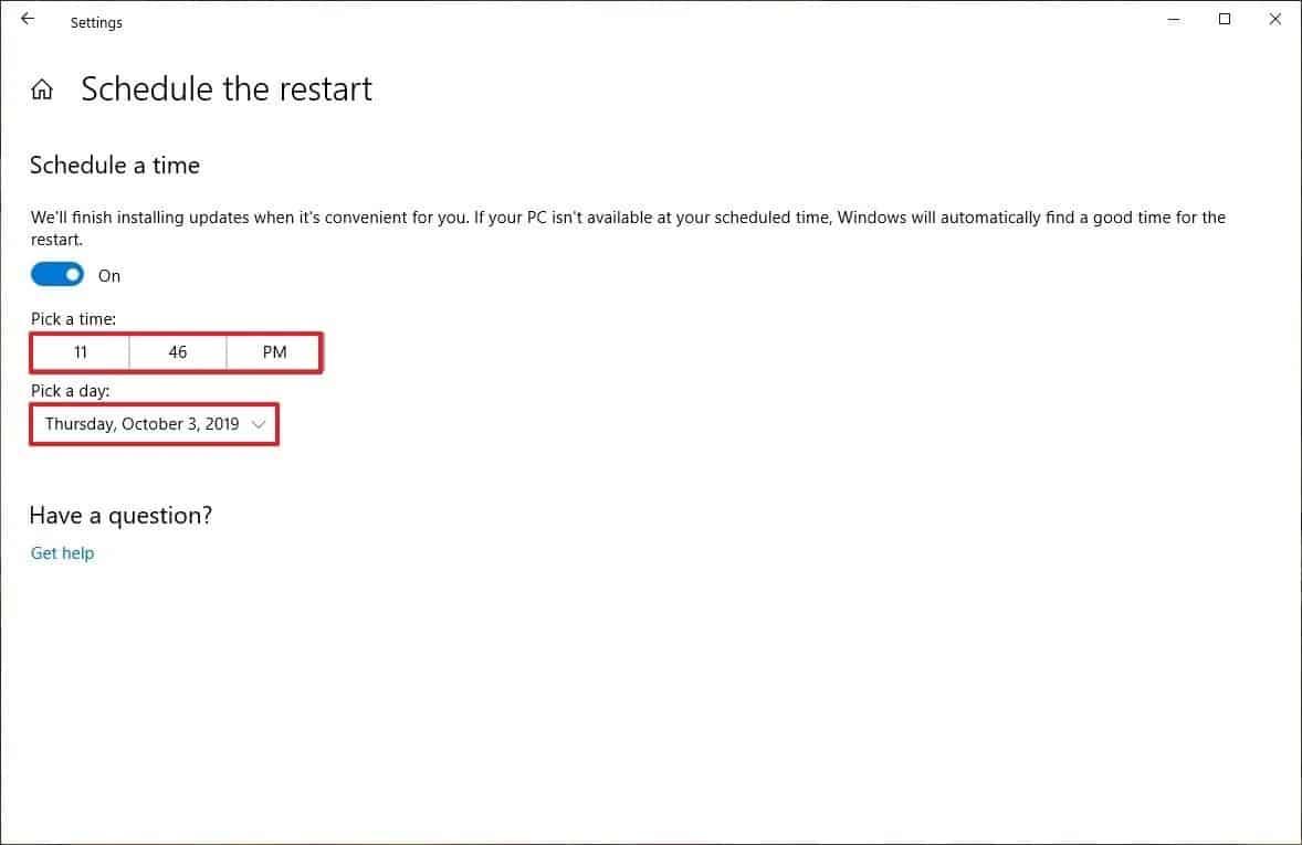 Untuk-mengatur-jadwal-kapan-update-akan-dilakukan-Klik-Schedule-The-Restart-lalu-Klik-Schedule-a-Time
