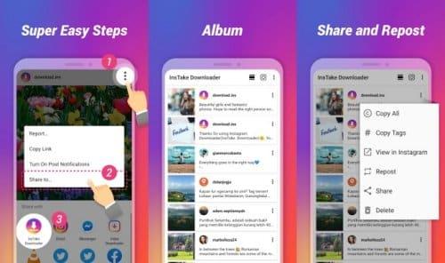aplikasi foto dan video downloader Instagram