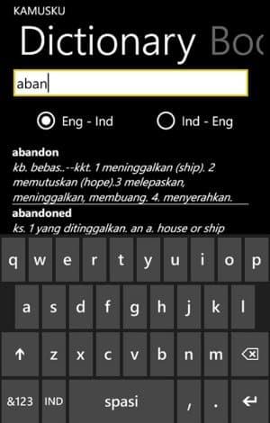 aplikasi kamus inggris indonesia untuk pc