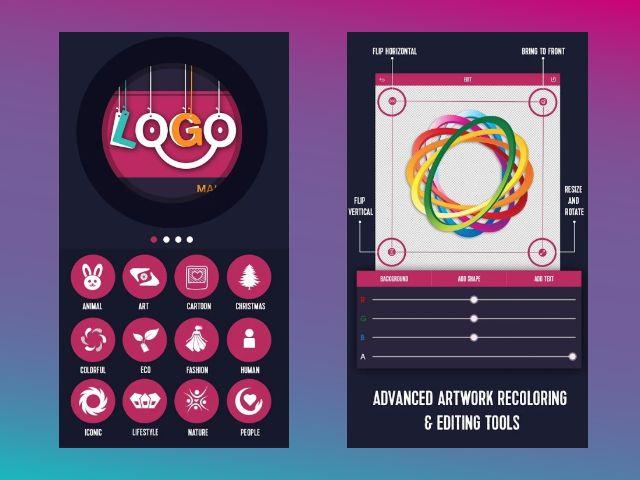 aplikasi pembuat logo stiker icon dan label di android