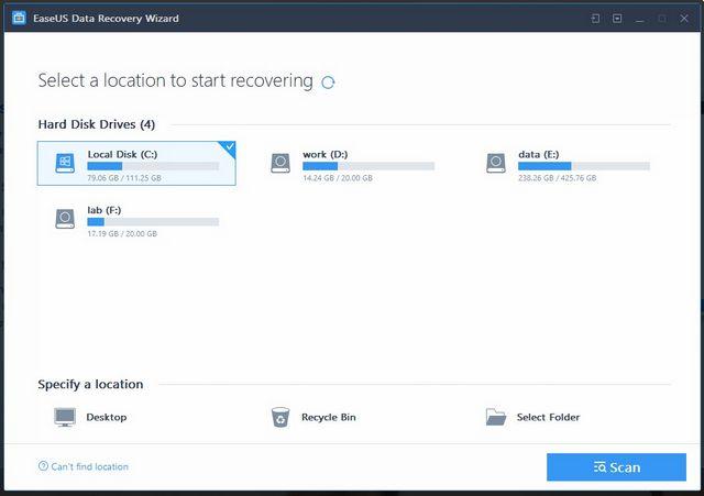 aplikasi recovery terbaik windows 10 easus data recovery