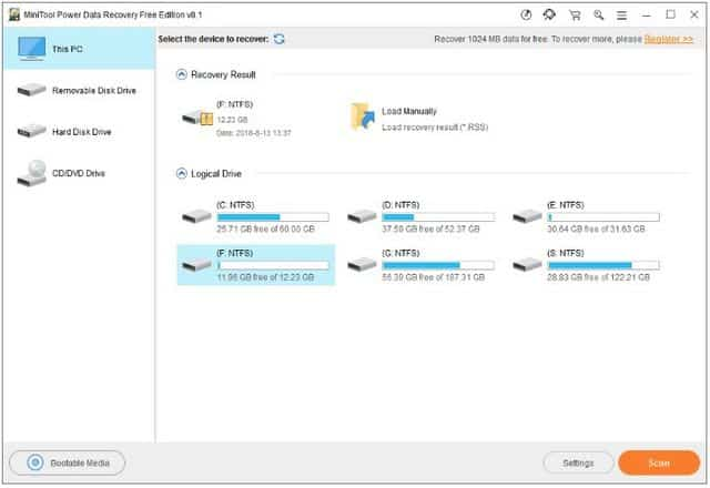 aplikasi recovery terbaik windows 10 minitool data recovery
