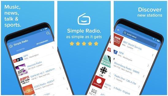 aplikasi simple radio online playstore dan appstore