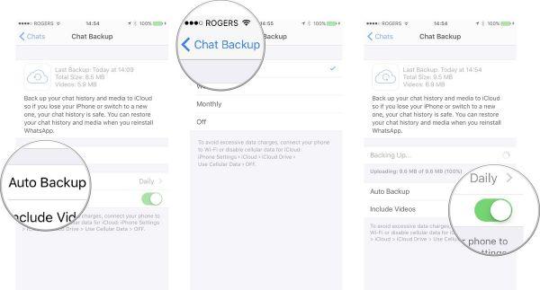 cara backup chat whatsapp otomatis ke icloud iphone