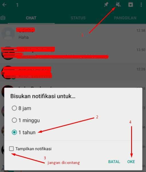 cara blokir grup whatsapp
