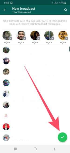 cara broadcast whatsapp ke banyak kontak