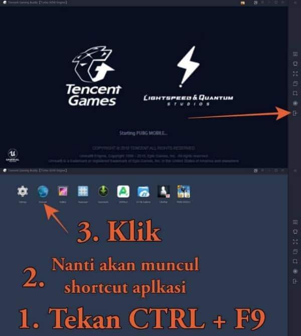 cara copy paste file di temulator tencent gaming buddy