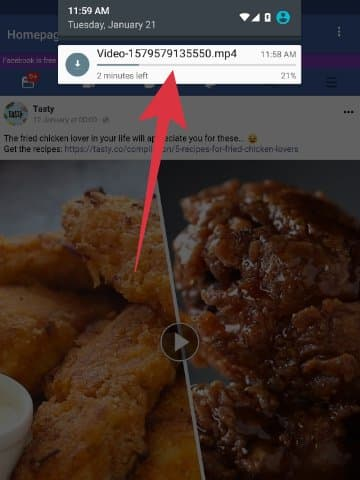 cara download video facebook ke memori hp