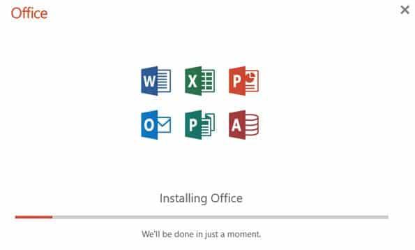 cara install office 365