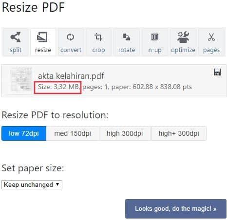 cara kompres file pdf jadi 300 kb