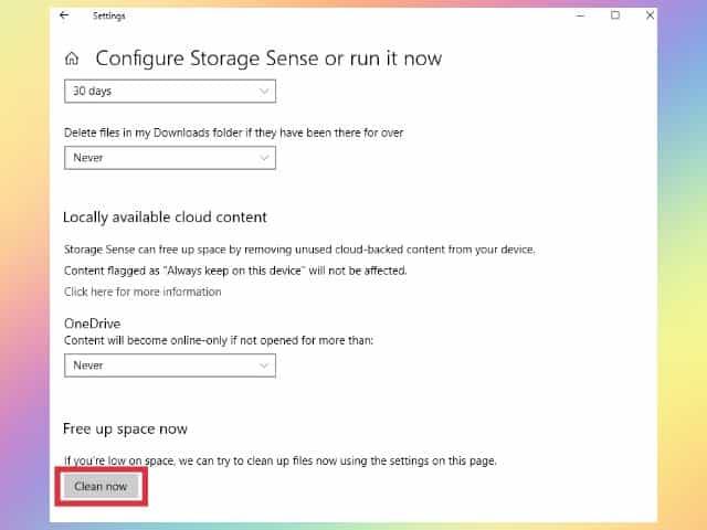 cara membersihkan file sisa uninstall software di windows 10 dengan storage sense