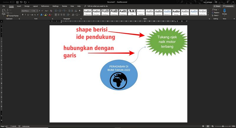 cara membuat mind mapping di microsoft word 2