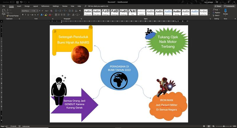 cara membuat mind mapping di microsoft word 4