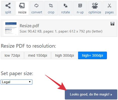 cara memperbesar ukuran pdf secara online
