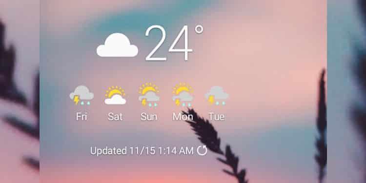 cara menampilkan cuaca dan suhu udara di hp samsung