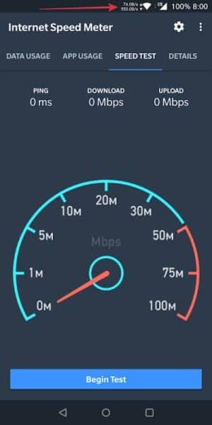 cara menampilkan kecepatan internet di hp samsung
